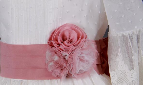 vestido comunion niña 2021 FLOR
